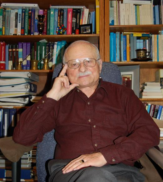 Prof. Roussas at his home office
